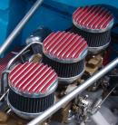 "Hot Rod 4"" Diameter Finned Aluminum Air Cleaners"