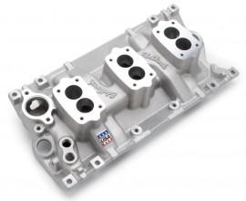 New - EDELBROCK 5417 - 3-Deuce Intake Manifold - Vortec Heads
