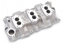 New - Our Clear Ceramic Coated EDELBROCK 5419 - 3-Deuce Rochester - Standard Heads
