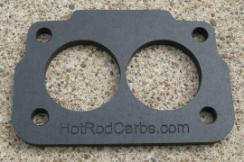 "Large Base Rochester 2-Jet - Carb Spacer - 1/4"" Thick Heat Insulating"