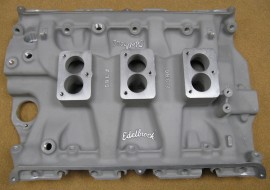 New Edelbrock F-380 - FE FORD Big Block - 3-Deuce / 3-Bolt Carbs