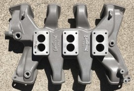 New Edelbrock L-300 - Lincoln Mercury 3-Deuce Intake Manifold