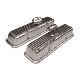 Small Block Chevy Finned Aluminum Valve Covers with Breathers