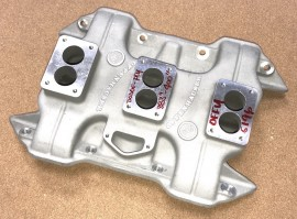 """Offenhauser #5196 - Dodge Plymouth 383"""" 400"""" 3x2 Intake Manifold"""
