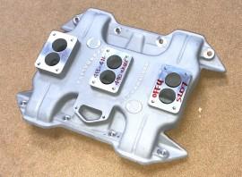 "Offenhauser #5207 - Mopar 413"" 426"" 440"" Wedge 3x2 Intake Manifold"