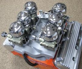 SOLD - Edelbrock X3 - Early Chrysler HEMI - 6-Deuce Cross Ram