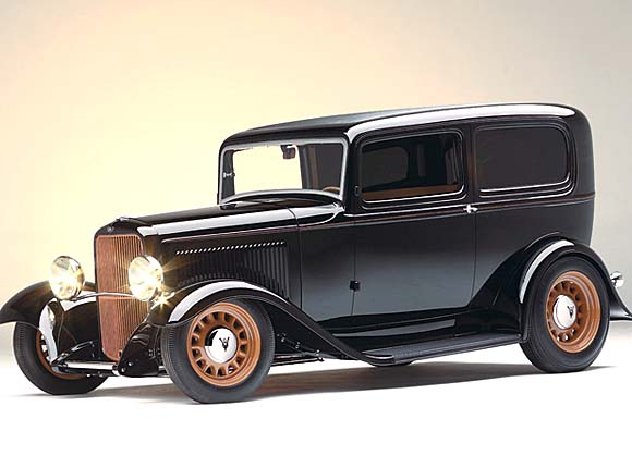 "2008 Street Rod of the Year<br>George Poteet<br>Dave Lane built<br>""Trick 1932 Ford<br>Sedan Delivery"""