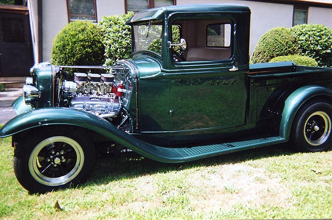 "Jim Scofield ""Green with Envy"" 34 Ford Pickup"