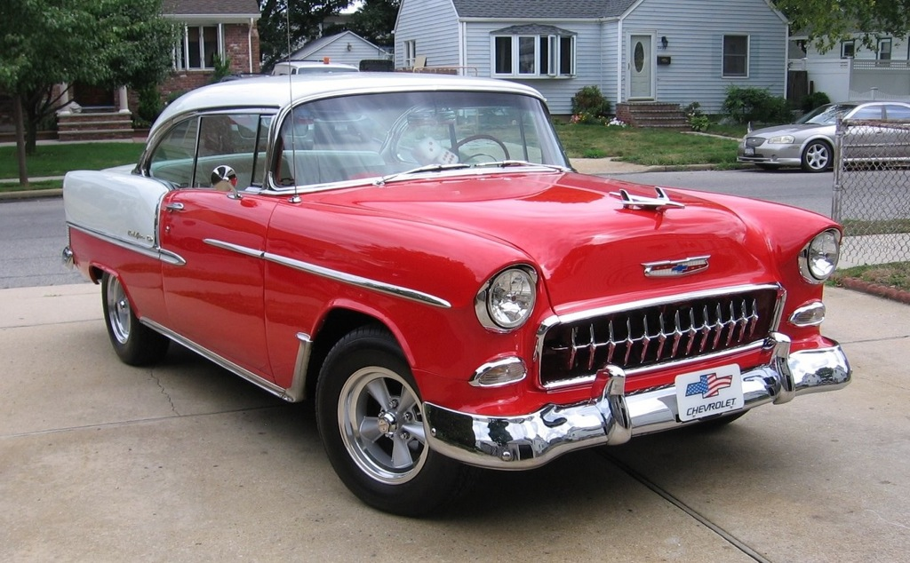 "Richie Polleri<br>1955 Chevy BelAir<br>he calls it his ""Driver"""