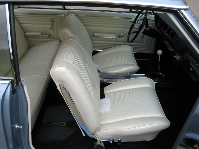 the Orig. style Pearl Parchment Interior is all new, as is the rest of the car