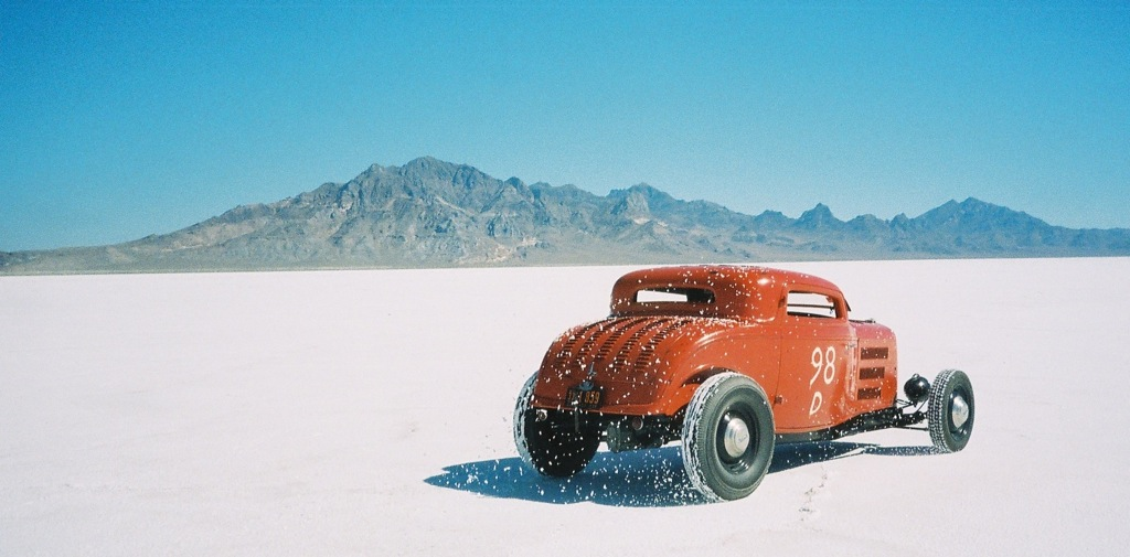 "Running down the salt at Bonneville after a 650 mile journey over from Denver CO... ""flawless operation"""