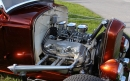 Rochester 2G Tri-Power<br/>Lakester style headers<br/>with Finned Edelbrock Valve Covers