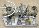 1966 Style Big Carbs - Aftermarket Aluminum Intake fits '65-'79 V-8 Engines (Drivers Side)