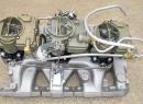 1966 Style Big Carbs - Aftermarket Aluminum Intake fits '65-'79 V-8 Engines (Passenger Side)