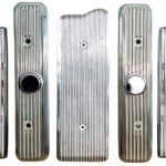 Nail Head 7PC. Sets Show Polished Finned Aluminum Engine Accessories we can Paint into the fins for you also!