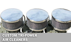 Custom Tri-Power Air Cleaners