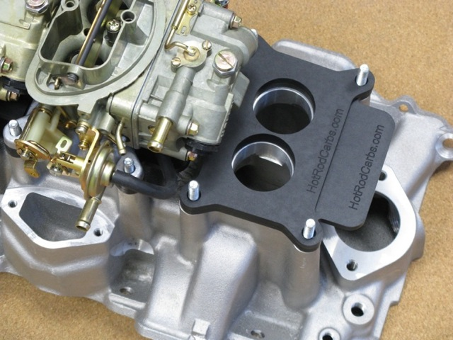 "340"" MOPAR 6-Pak Intake and Carbs - AUTOMOTION / Hot Rod Carbs<br />Holley 2300 Carburetor Heat Insulating Spacers & Shields"