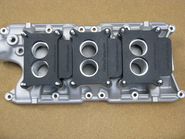 Small Block Ford Tri-Power - AUTOMOTION / Hot Rod Carbs<br />Holley 2300 Heat Insulating Shields and Spacers