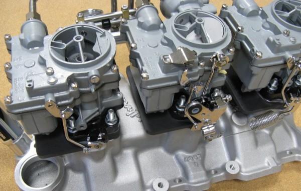 Heat Shield Car >> Hot Rod Carburetors - Custom Tri-Power Carburetors ...