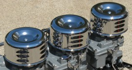 Chrome Louvered Bonnets with K&N Elements