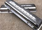 NOS Corvette - Staggered Bolt Hole - 7 Fin Valve Covers - GM 3726086