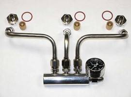 "Rochester Tri-Power - Fuel Line Set - Side Inlet Rochesters with 1"" Nut"