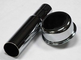 Chrome Oil Fill Tube with Heavy Duty Breather