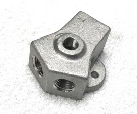 Y Fuel Block - 4 Port Design - With or Without Pressure Gauge